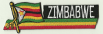 Zimbabwe Embroidered Flag Patch, style 01.